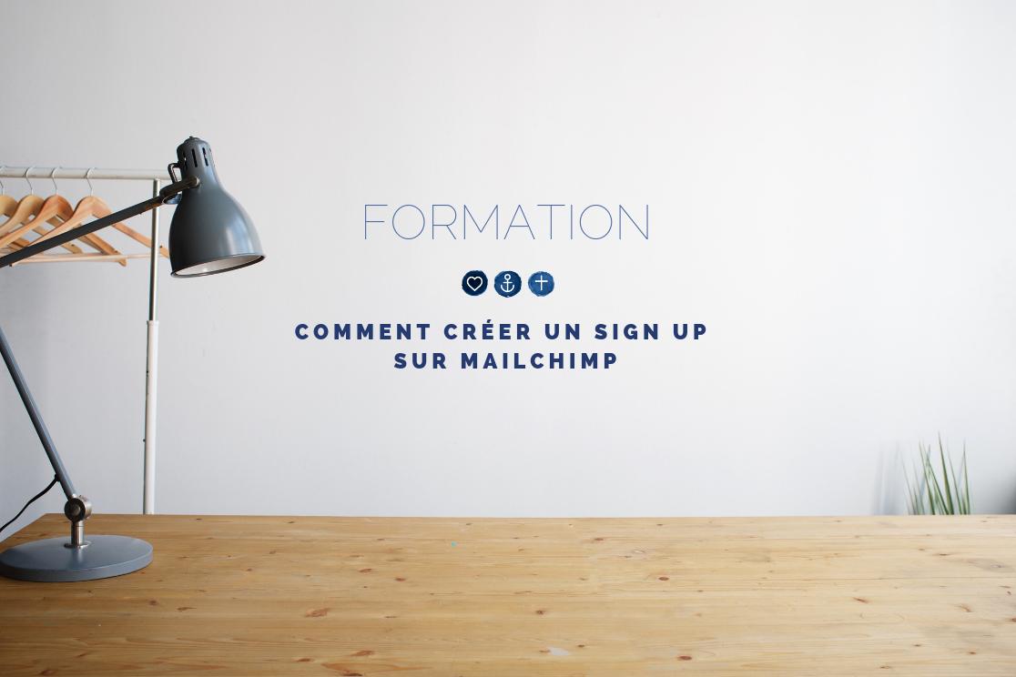 Découvrez la vidéo de formation Chaprgirl - Comment créer un sign up sur Mailchimp - Photo par Andrej Lisakov